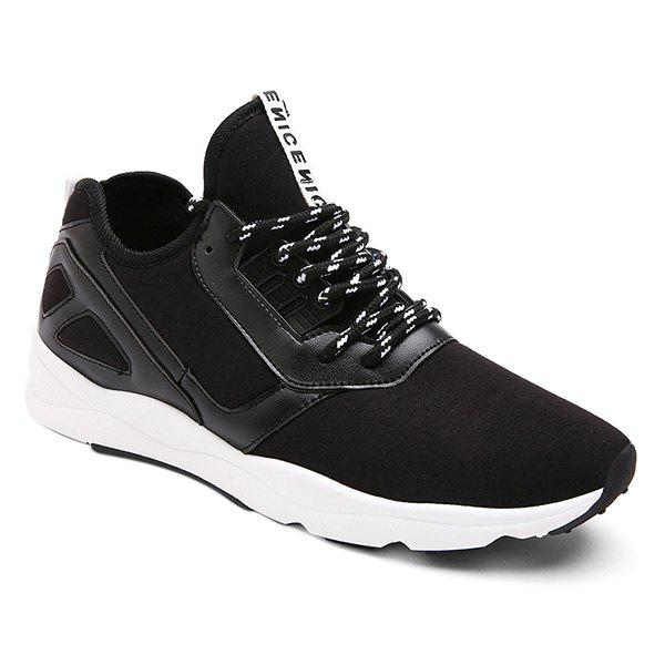 Lace-Up Color Block épissage Chaussures - Noir 44