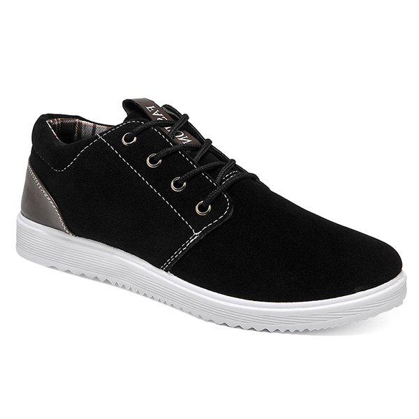 Lace Up Colour Block Casual Shoes - BLACK 40