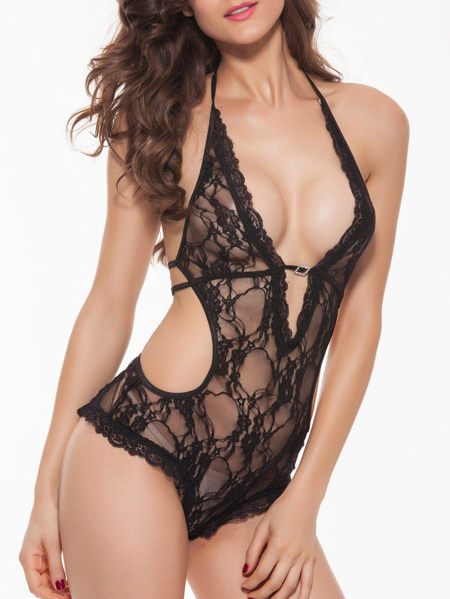 Buy Lace Cut Teddies BLACK