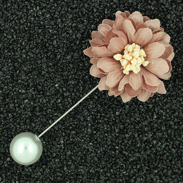 Sunflower Faux Pearl Brooch - LIGHT PINK