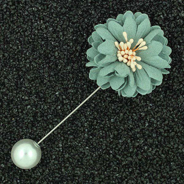Sunflower Faux Pearl Brooch - LIGHT GREEN