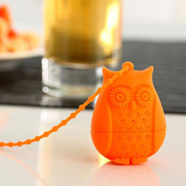 Portable Cartoon Owl Shape Silicon Tea Infuser - ORANGE