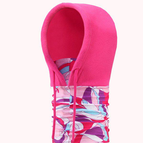 Outdoor Antifog Neck Hood Cycling Hat Scarf - ROSE RED