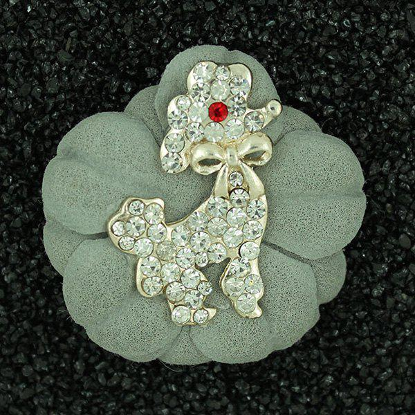 Broche Floral Caniche bowknot strass - LIGHT GREEN
