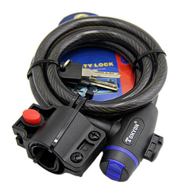 1.2M Cable Candado Antitheft Bicycle Lock - BLACK