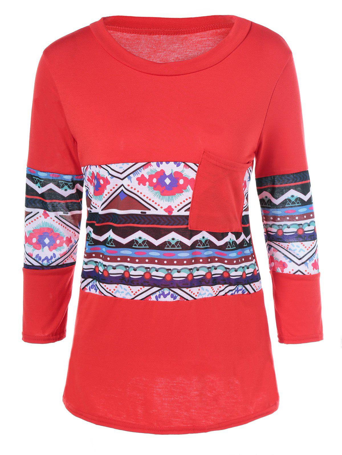 Print Long Sleeve T-Shirt - JACINTH L