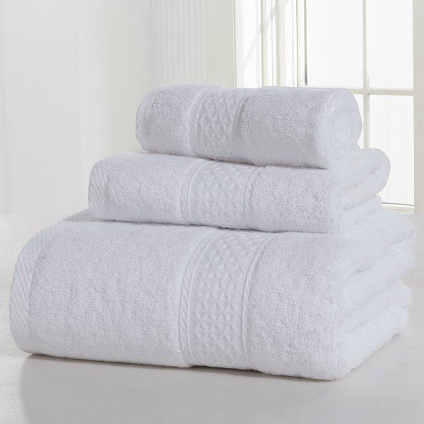 3PCS Comfortable Cotton Bath Towel Set - MILK WHITE