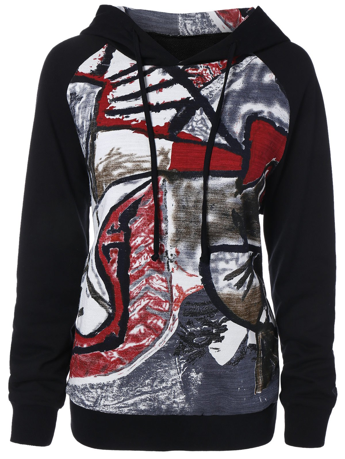 Graffiti Pattern Hoodie graffiti pattern splice sneakers