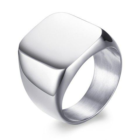 Vintage Geometric Stainless Steel Ring - SILVER 8