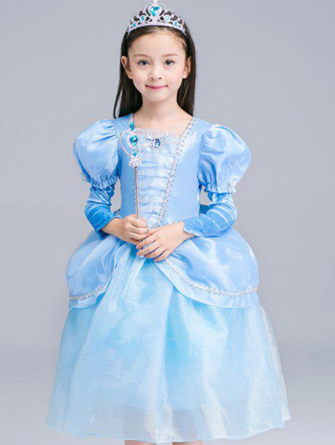 Fairy Tale Robe Enfants Halloween Robe Cosplay Princesse - Azur 120