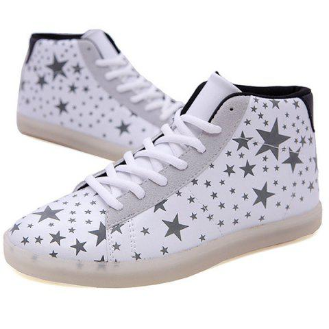 Night Light Fluorescent Shoes - WHITE 43