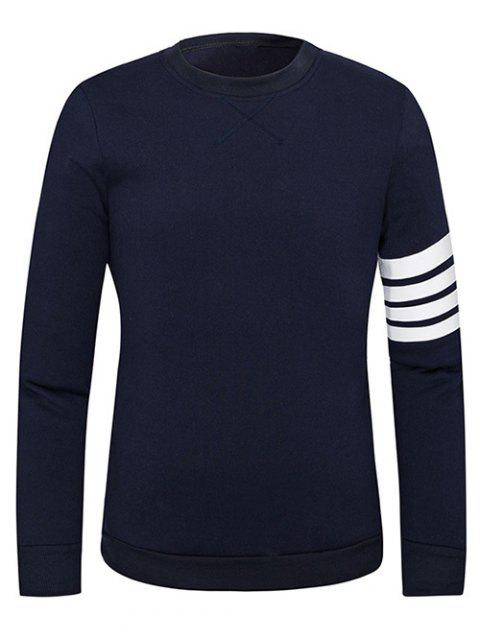 Pull Stripe Imprimer Sweat ras du cou - Cadetblue 2XL