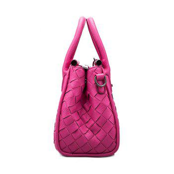Ladylike Zip and Weaving Design Women's Tote Bag - PINK