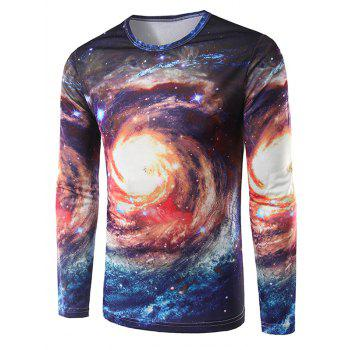 Universe 3D Print Long Sleeves T-Shirt