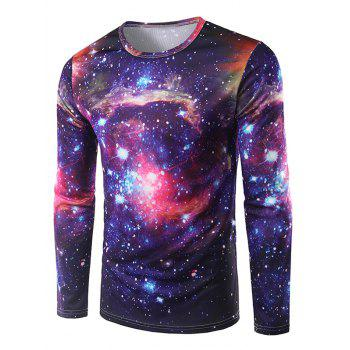 3D Print Long Sleeve Galaxy T-Shirt