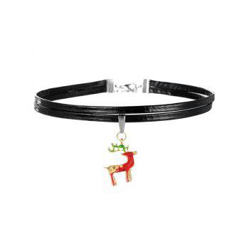Layered Christmas Boot Choker Necklace