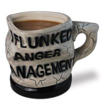 Letters I Flunked Anger Management Distorted Coffee Mug - COLORMIX COLORMIX
