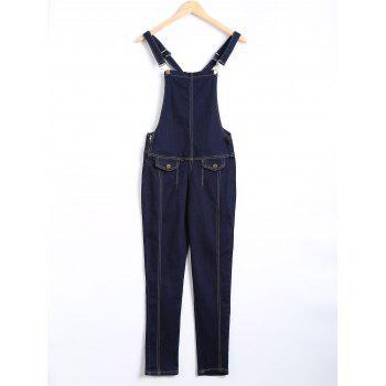 Pocket Design Topstitching Racerback Overall Pants