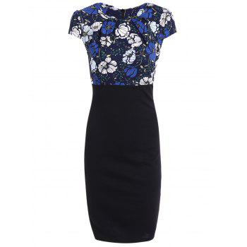 High Waist Floral Print Slimming Dress