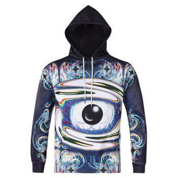 Abstract Eye Printed Pullover Hoodie