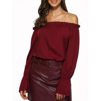 Off The Shoulder Puff Sleeve Blouse