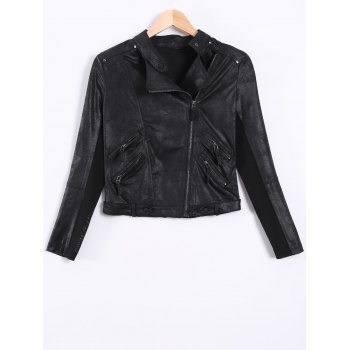 Punk Style Zipper Design Biker Jacket