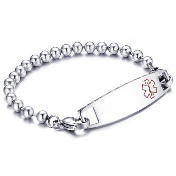 Beaded Engraved Medical Logo Bracelet