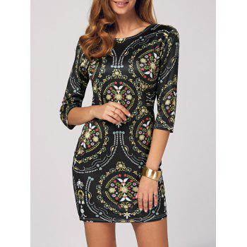 Floral Printed Bodycon Mini Dress