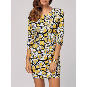 Abstract Printed Bodycon Mini Dress