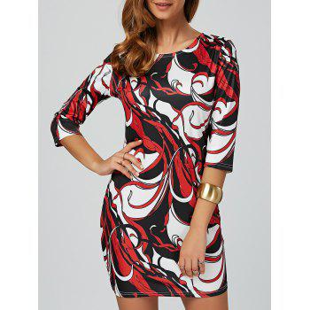 Abstract Bodycon Mini Dress