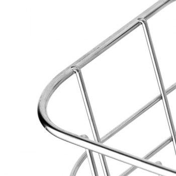 Wall Hanger Stainless Steel Storage Basket - SILVER