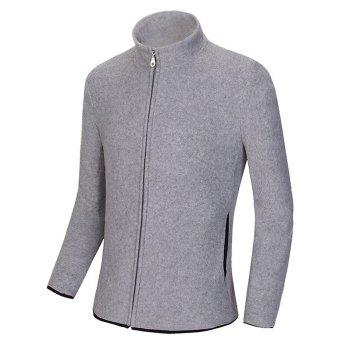 Zip Up Stand Collar Polar Fleece Sweatshirts