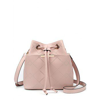 Drawstring Metal Geometric Pattern Crossbody Bag