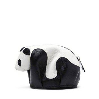 Zipper Color Block Panda Shape Crossbody Bag