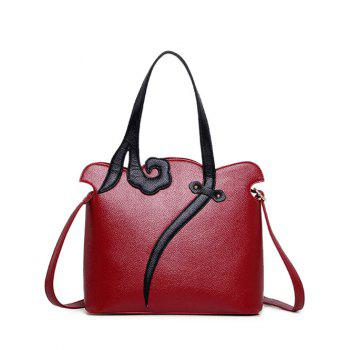 Two-Tone Metal PU Leather Shoulder Bag