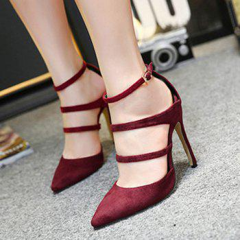Strappy Pointed Toe Pumps - 38 38