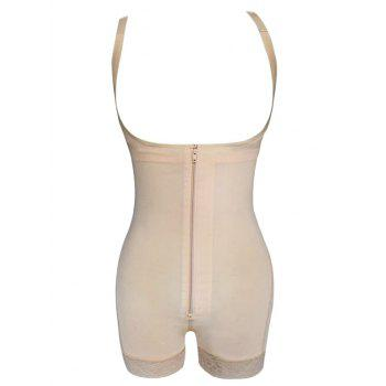 Straps Back Zip Up Full Body Corset