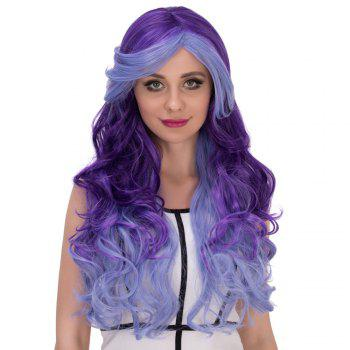 Multicolor Cosplay Synthetic Long Side Bang Wavy Wig - COLORMIX