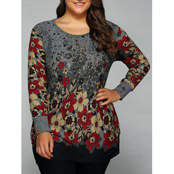 Loose-Fitting Casual Floral Print T-Shirt