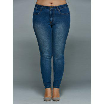 Plus Size Mid Waisted Skinny Jeans