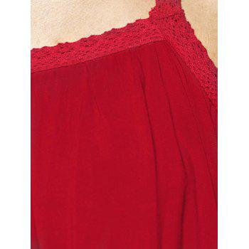 Spaghetti Strap Solid Color Blouse ample - Rouge M