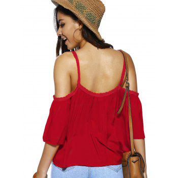 Spaghetti Strap Solid Color Loose Fitting Blouse - S S
