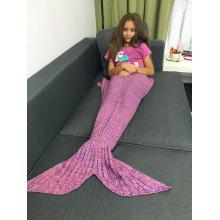 Yarn Knitted Sleeping Bags Mermaid Tail Blanket