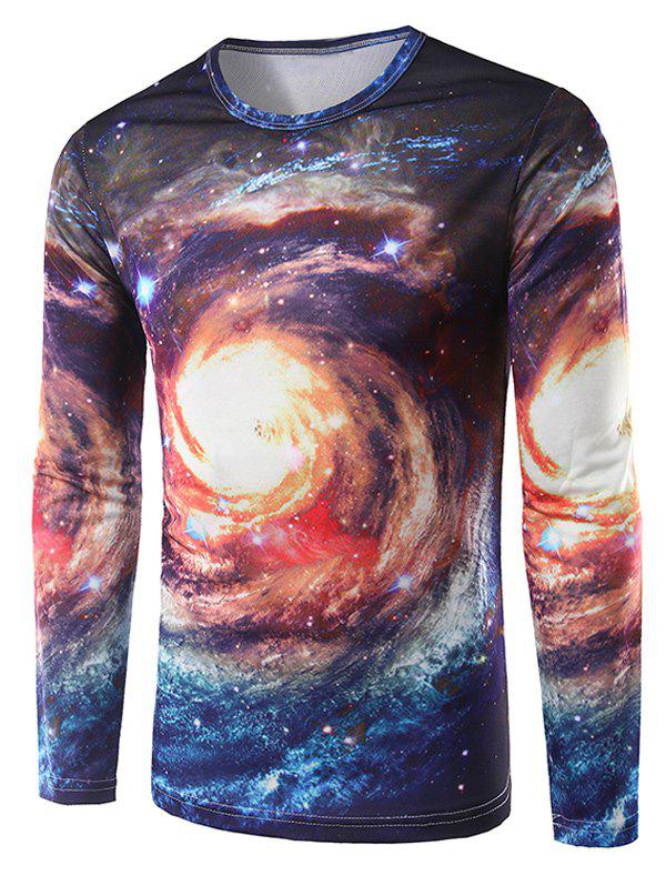 Universe 3D Print Long Sleeves T-Shirt - COLORMIX M