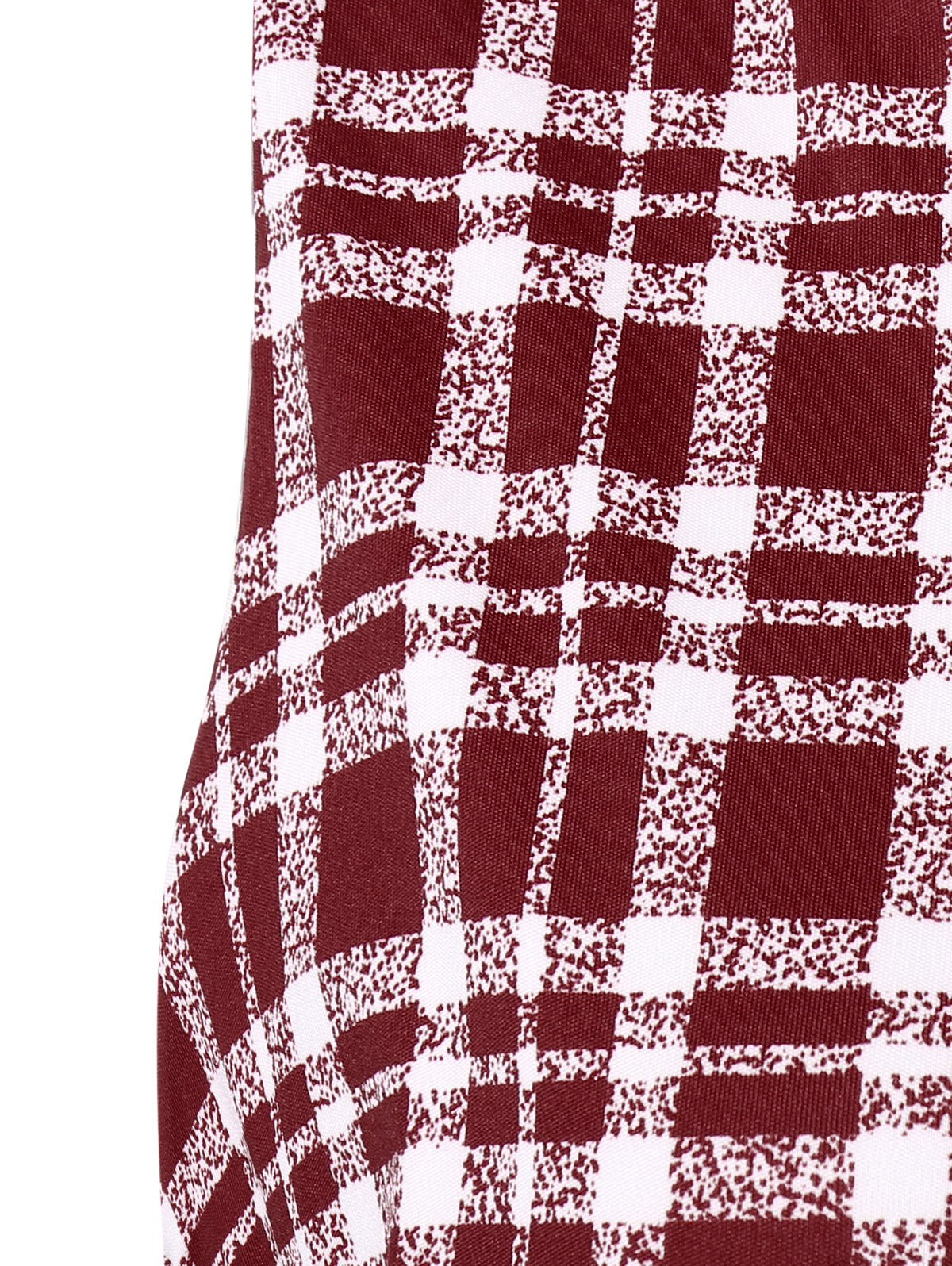 Plaid Belted Dress Vintage - Rouge M