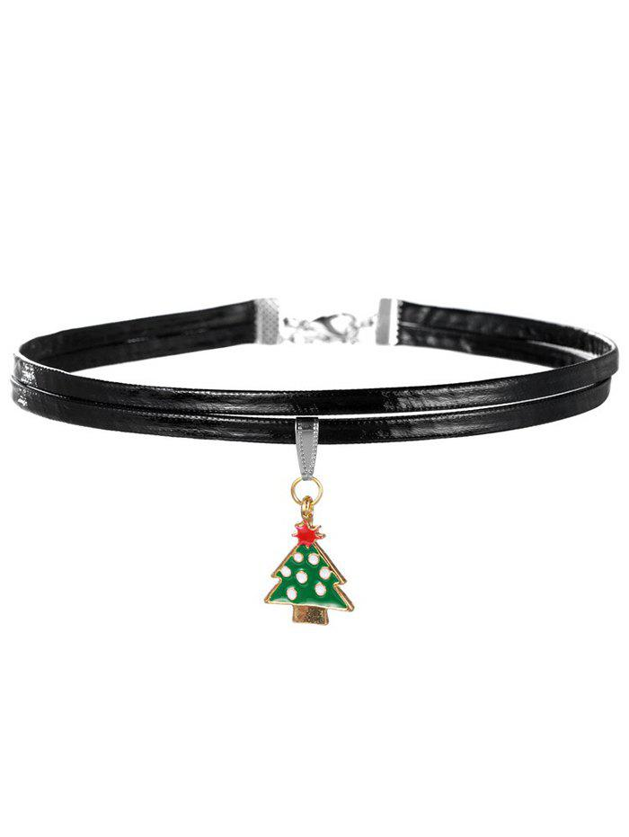 Layered Christmas Tree Choker - GREEN
