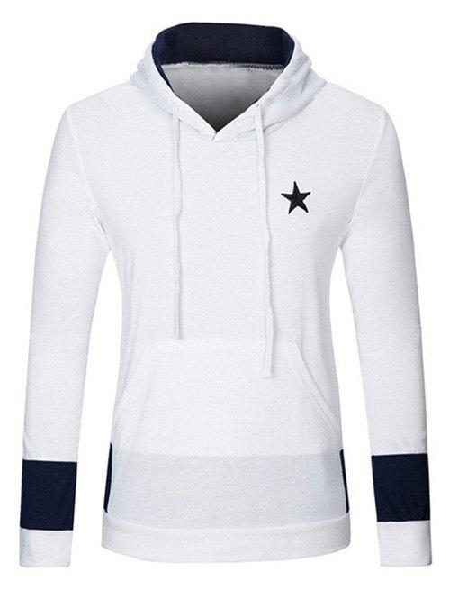 Star Embroidered Kangaroo Pocket Drawstring Pullover Hoodie kangaroo pocket star embroidered drawstring pullover hoodie page 8