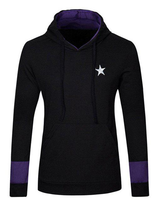 Star Embroidered Kangaroo Pocket Drawstring Pullover Hoodie kangaroo pocket star embroidered drawstring pullover hoodie page 10