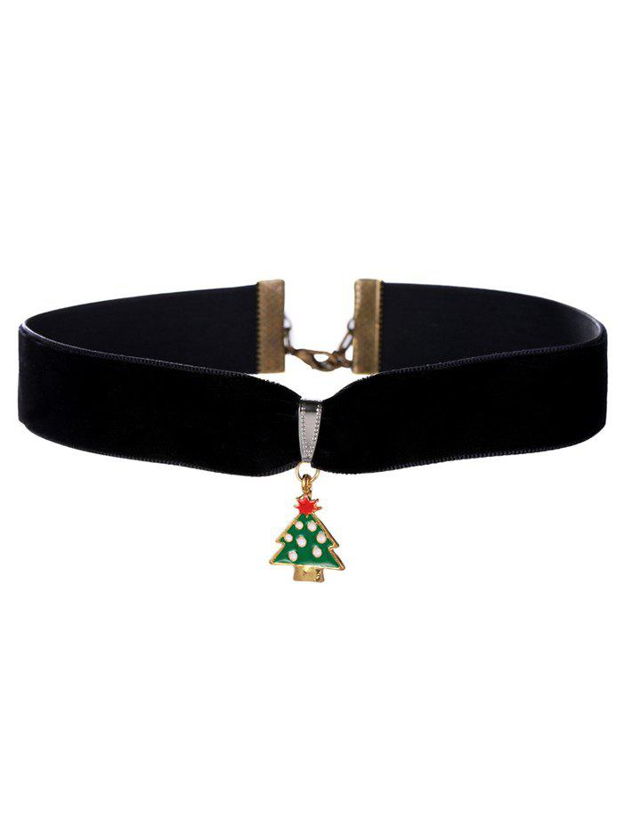 Christmas Tree Velvet Wide Choker Necklace