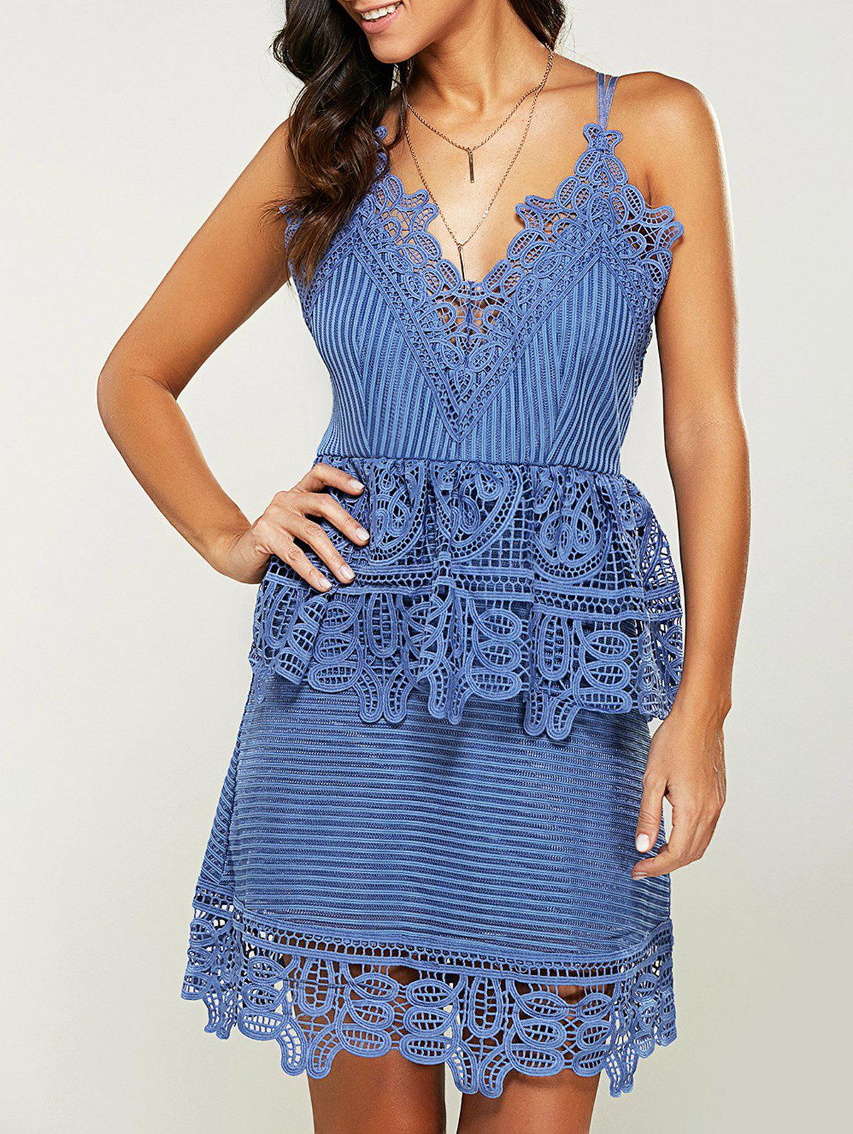 Dresslily USA A Line Cami Lace Dress